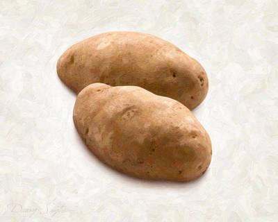 Potatoes Art Print by Danny Smythe