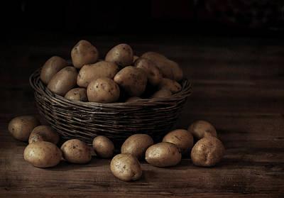 Potato Photograph - Potatoes In The Basket by Jolanta Zychlinska
