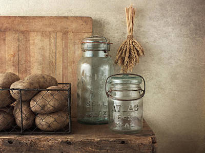 Potato Mixed Media - Potatos And Jars by Vicki McLead