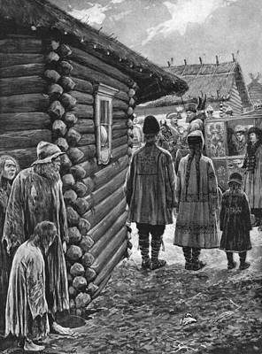 Log Cabin Drawing - Potemkin Village, 1787 by Granger