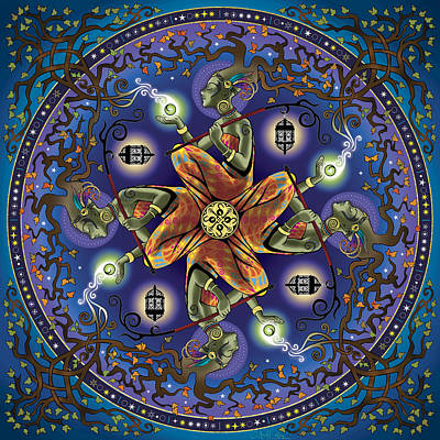 Sacred Digital Art - Potential Mandala by Cristina McAllister