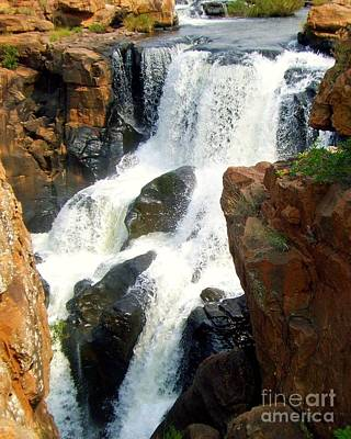 Photograph - Potholes And Waterfalls by Barbie Corbett-Newmin