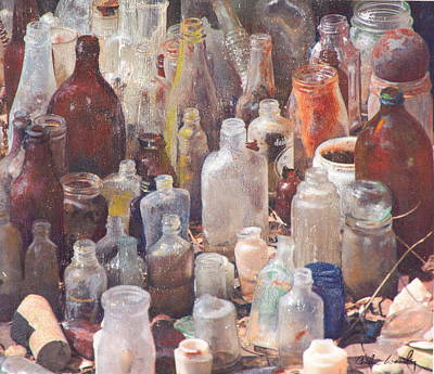 Potions And Elixirs Art Print by Carla Woody