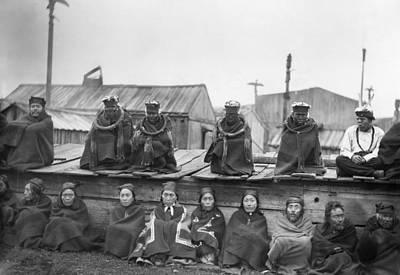 Wooden Platform Photograph - Potlatch Ceremony, 1894 by Granger