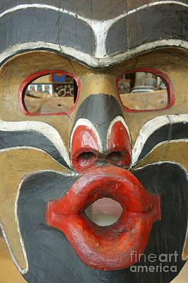 Potlatch Face British Columbia Canada Art Print by John  Mitchell