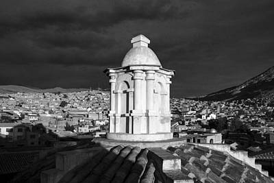 Potosi Church Dome Black And White Art Print by For Ninety One Days