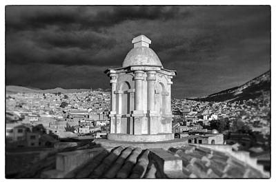Potosi Church Dome Black And White Framed Art Print by For Ninety One Days