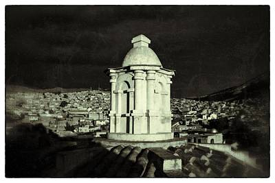 Potosi Church Dome Black And White Vintage Art Print by For Ninety One Days