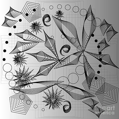 Digital Art - Potpourri In Black And White 2013 by Kathryn Strick