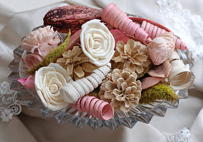 Photograph - Potpourri In Pink And Cream by Connie Fox