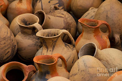 Pots And Pitchers Art Print by Richard and Ellen Thane