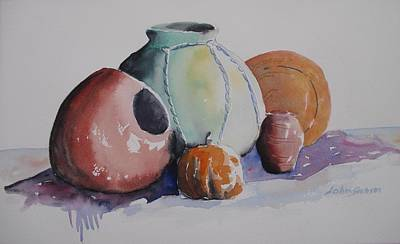 Art Print featuring the painting Pots by John  Svenson