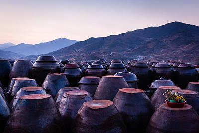 Pots Of Plum Art Print