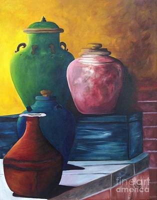 Painting - Pots by Vikki Angel