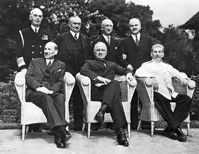 Photograph - Potsdam Big Three Conference by Underwood Archives