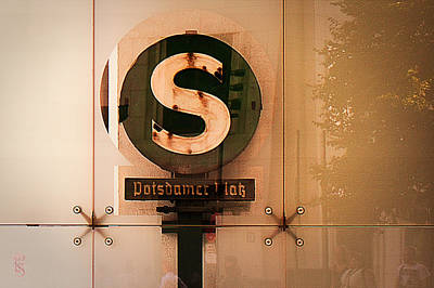 Potsdamer Platz  Berlin  Station Sign Original by Li   van Saathoff
