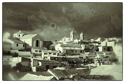 Potsi 2 Towers Black And White Vintage Art Print by For Ninety One Days