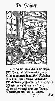 Pottery Painting - Potter, 1568 by Granger
