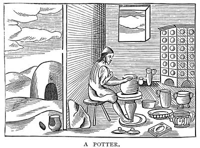 Creativity Drawing - Potter, 1659 by Granger