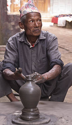 Potter At Wheel - Nepal Original