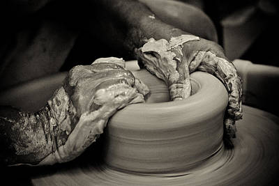 Potters Clay Photograph - Potter by Caitlyn  Grasso