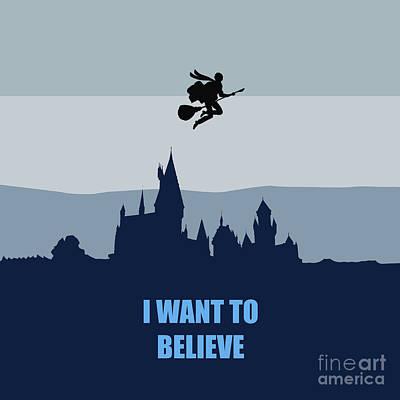 I Want To Believe Digital Art - Potter I Want To Believe by Koko Priyanto