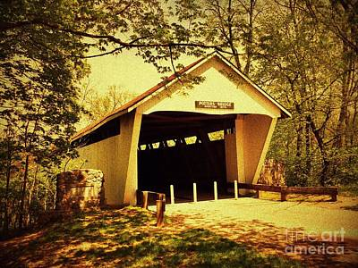 Indiana Photograph - Potter's Covered Bridge by Amy Lucid