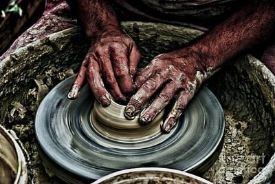 Potters Clay Photograph - Potters Wheel  by Dan Yeger