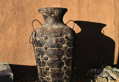 Photograph - Pottery And Adobe by Edward R Wisell