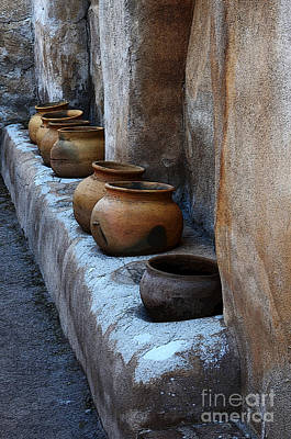 Photograph - Pottery At Mission San Jose De Tumacacori by Bob Christopher