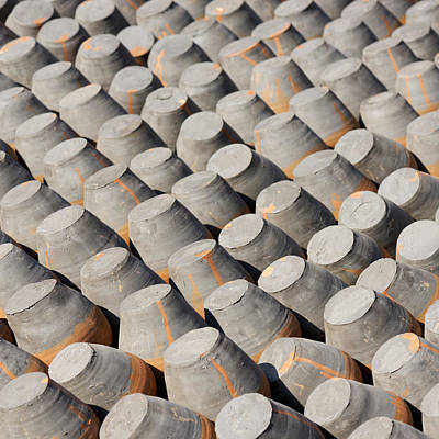 Pottery Drying In The Sun Art Print