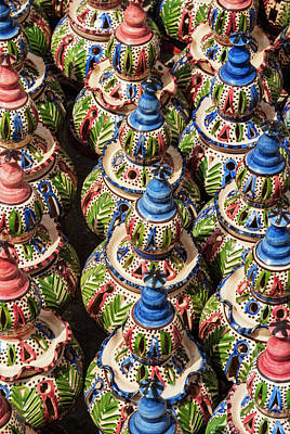 Glazed Pottery Photograph - Pottery For Sale, Tabarka, Tunisia by Nico Tondini
