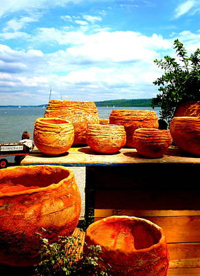Pottery Market Diessen Art Print by The Creative Minds Art and Photography