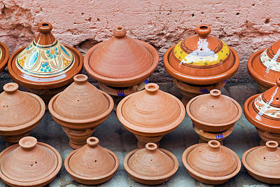 African Ceramics Photograph - Pottery Pans (tajiniere by Nico Tondini