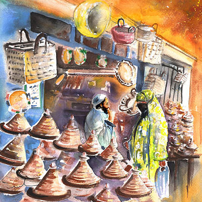 Painting - Pottery Seller In Essaouira by Miki De Goodaboom