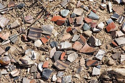 Photograph - Pottery Shards by Melany Sarafis