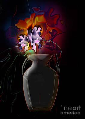 Pottery Vase Flowers 2 Art Print