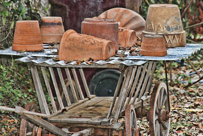 Photograph - Potting Cart by Audreen Gieger