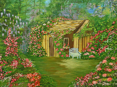 Painting - Potting Shed by Dina Jacobs