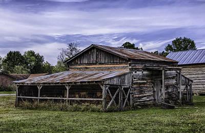Art Print featuring the photograph Pottsville Arkansas Historic Log Barn by Betty Denise