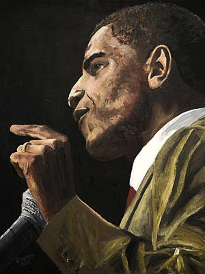 Barack Obama Painting - Potus 2 by Roger  James