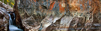 Photograph - Poudre Canyon Falls - Panoramic by Posters of Colorado