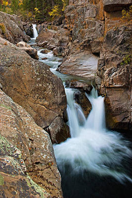 Photograph - Poudre Canyon Falls - Vertical by Posters of Colorado