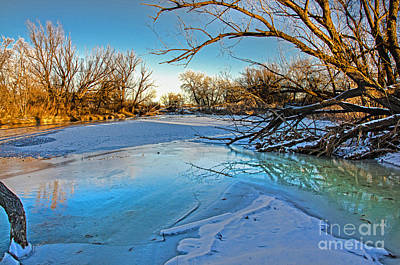 Fort Collins Photograph - Poudre Ice by Baywest Imaging