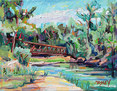 Poudre River Passage   Plein Air Art Print