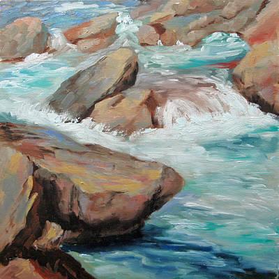 Poudre River Rocks Art Print