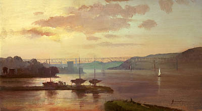Painting - Poughkeepsie Sunrise by Keith Gunderson
