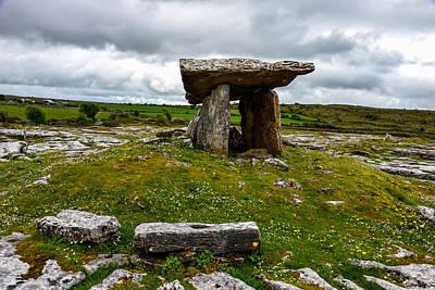 Photograph - Poulnabrone Dolmen Portal Tomb - Ireland by Marilyn Burton
