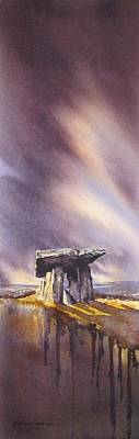 Burren Painting - Poulnabrone Revisited by Roland Byrne