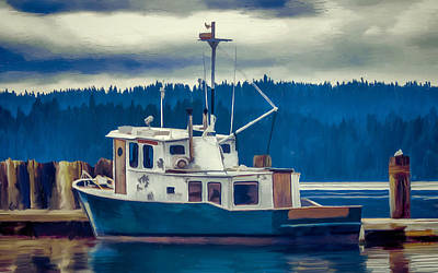 Painting - Poulsbo Waterfront 03 by Wally Hampton